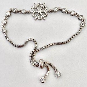 ❄️ RESTOCK❣️Snowflake slider bracelet 925 silver